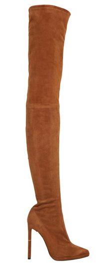 Emilio Pucci thigh high stretch suede boots