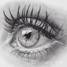 Good ole' graphite eye drawing ✨ by @nathalie_gsll - worldofartists.co 2 days left!
