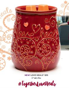 Share your love! Scentsy will donate $8 from the sale of each Scentsy Shriners Hospital Warmer Love Heals to Shriners Hospitals for Children.