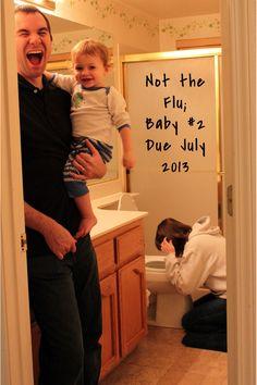 30+ Fun Photo Ideas to Announce a Pregnancy - Not A Flu, But A Baby Announcement