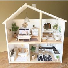Diy Craft Table diy craft room table with ikea furniture on a budget Barbie Furniture, Ikea Furniture, Furniture Plans, Modern Dollhouse Furniture, Furniture Outlet, Furniture Stores, Garden Furniture, Office Furniture, Bedroom Furniture