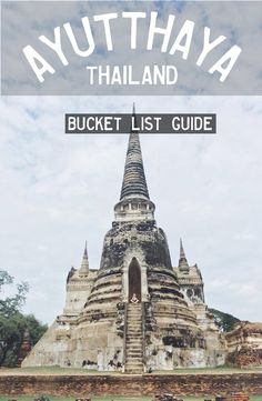 Ayutthaya is located about two hours from Bangkok, Thailand Get there by bus from Bangkok or by train. Thailand Adventure, Thailand Travel, Asia Travel, Travel Usa, Travel Guides, Travel Tips, Travel Destinations, Romantic Vacations, Romantic Travel