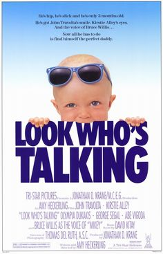 Look Who's Talking , starring John Travolta, Kirstie Alley, Olympia Dukakis, George Segal. After a single, career-minded woman is left on her own to give to birth to the child of a married man, she finds a new romantic chance in a cab driver. Meanwhile the point-of-view of the newborn boy is narrated through voice over. #Comedy #Romance