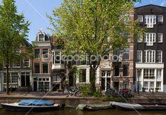 staré domy v Amsterdamu — Stock obrázek #38603397