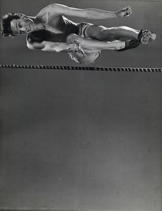 what's your angle?    © Gjon Mili, 1939, High jumper Clarke Mallery  This photograph is part of 'The Sports Show' - on view at the Minneapolis Institute of Arts