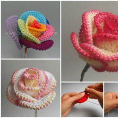 Tutorial #171: Cómo hacer una rosa firme a Ganchillo o Crochet