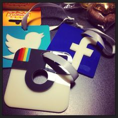 Social Media Ornaments! Perfect gift for someone working in Digital Communications or lovers of Social Media!