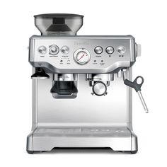 cafetera de uso profesional, prepara cafe capuchino, americano y expresso, incluye molino, para un molido instantáneo en cada café.Breville Bes870XL/Molino.