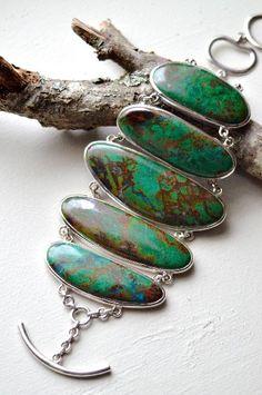 Silver and gemstone bracelet. ∆∆∇∇ elementality | jewelry