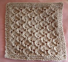 Ravelry: Bridal Shower Lace Cloth pattern by Cathy Waldie Knitted Washcloth Patterns, Knitted Washcloths, Dishcloth Knitting Patterns, Crochet Dishcloths, Arm Knitting, Knitting Stitches, Knit Patterns, Stitch Patterns, Knitted Baby