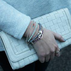 Get the look... http://www.anniehaakdesigns.co.uk/bracelets