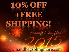 Save 10% each + FREE SHIPPING on Qualifying items offered by Handbags, Bling & More! when you purchase 1 or more.
