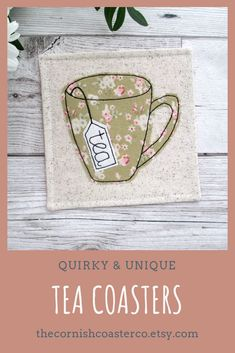 Rustic coaster sets ~ quirky & unique gift ideas for the tea lover! Coffee Table Coasters, Rustic Coasters, Tea Coaster, Rustic Style, Rustic Decor, Farmhouse Decor, Boho Style, Farmhouse Style, Boho Chic