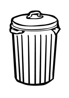 vector trash can stock illustration royalty free illustrations rh pinterest com trash can clip art free trash can clipart images