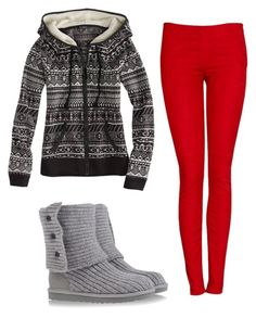 """""""Untitled #19"""" by school-outfits ❤ liked on Polyvore featuring American Eagle Outfitters and UGG Australia"""