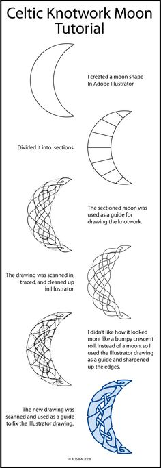 Drawing tutorial mandala celtic knots ideas for 2019 Celtic Symbols, Celtic Art, Celtic Knots, Celtic Drawings, Cool Drawings, Celtic Knot Tutorial, Symbole Viking, Celtic Knot Designs, Celtic Patterns