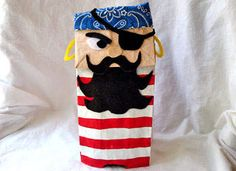 Kids Craft Paper Bag Pirate Puppet - Halloween Decorations & Costumes - Kaboose.com