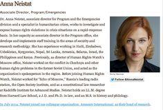 Anna Neistat, amazing woman, amazing job