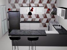 Projeto de cozinha - 3Ds max by Mayara Almeida, via Behance