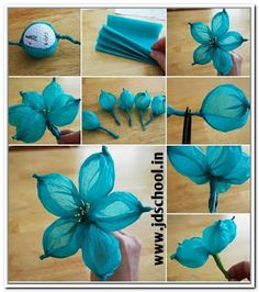 30 creative ideas to make colourful flowers. ~ JD SCHOOL