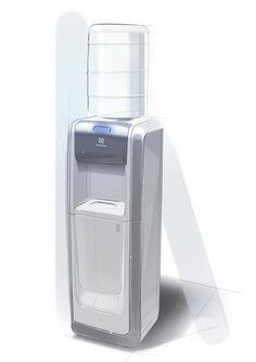 Tower water dispenser  by Fabio Yuji Matsuda, via Behance