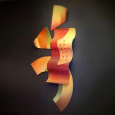 SAS art.  Artist: Barbara Baer  Title: Geometric Flow I & II  Material: Painted metal