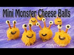 Mini Monster Cheese Balls and Cake Ball Monsters Plus Video Tutorial - Hungry Happenings