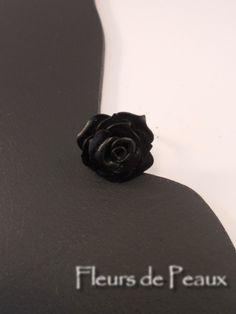 Bague réglable rose fleur cuir Fleurs En Cuir, Cuir Pleine Fleur, Bague  Réglable, 5aac765ce51