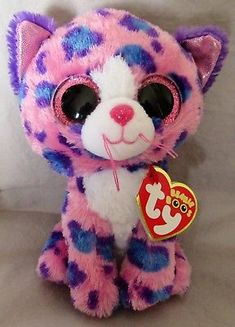 Reagan the Leopard - TY Beanie Boo - Claire's Exclusive. Ty Stuffed Animals, Plush Animals, Large Beanie Boos, Ty Beanie Boos Collection, Ty Peluche, Princess Diana Beanie Baby, Mini Boo, Ty Bears, Ty Toys