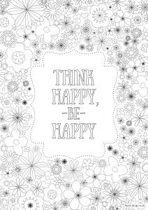 Free printable adult colouring pages for the New Year - inspirational quote colouring pages for adults | Daisies & Pie