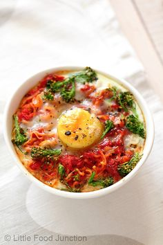 Little Food Junction: Fusion.. Baked Noodles with vegetable and egg