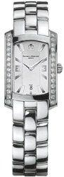 Baume & Mercier Hampton Milleis Women's 8513 Silver Dial Diamond Bezel Steel Watch