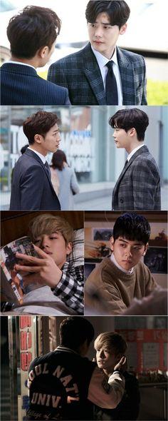 """While You Were Sleeping - 2017"" Serious Lee Jong-suk and Lee Sang-yeob @ HanCinema :: The Korean Movie and Drama Database"