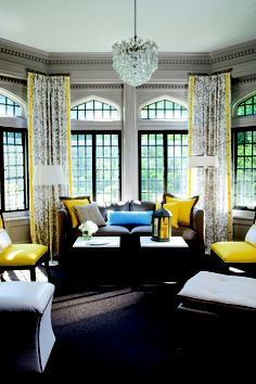 The grey and yellow is stunning!
