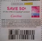 20-$.50/1 ONE ANY SIZE CAREFREE PRODUCT FEMININE PANTILINERS PANTY LINERS PADS - http://couponpinners.com/coupons/20-501-one-any-size-carefree-product-feminine-pantiliners-panty-liners-pads/