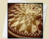 Strawberry Fields Forever - Imagine John Lennon Memorial - Central Park - NYC - 5x5 Square Eco Photo Flat Card or Folded Note Card