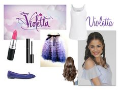 """Martina Stoessel - Violetta"" by fati-taylor-13 ❤ liked on Polyvore featuring beauty, Disney, True Religion, Repetto and Chanel"