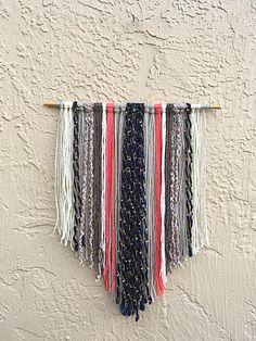 DIY Yarn Wall Hanging Visit xoxojackie.com for DIY and more! xoxojackie life + style blog.
