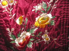 Vintage dressing gown ruby red silk RARE by vintageboxofdelights, $250.00