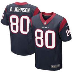 Nike Andre Johnson Houston Texans Elite Jersey - Navy Blue