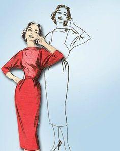 batwing+dress+pattern   ... ORIGINAL High Fashion Dress Pattern w Batwing Sleeves @Rochelle Weeks New