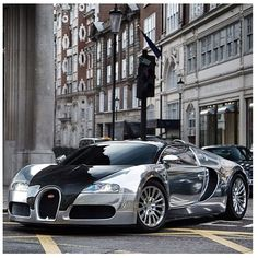 Chrome Bugatti Veyron. Thoughts? HOT or NOT? You decide...      Cars Share and enjoy! #AnastasiaDate