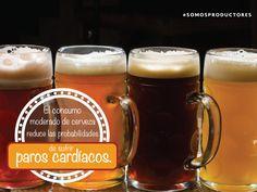 El consumo moderado de cerveza reduce las probabilidades de sufrir paros cardíacos. SAGARPA SAGARPAMX #SomosProductores