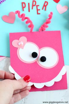 This cute DIY Monster Valentine's Day Card is scary adorable and a quick and easy craft project you can make with the Cricut Maker. Cute Valentines Day Cards, Easy Valentine Crafts, Vintage Valentine Cards, Bday Cards, Kids Birthday Cards, Handmade Birthday Cards, Birthday Card Template, Monster Cards, Crafts For Teens