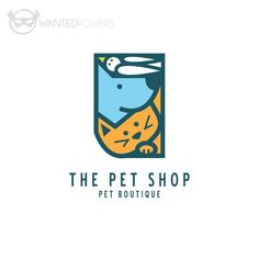 Modern illustrated dog, cat and bird stacked for a unique mark, perfect for your pet-related business! | Modern Logo Design, Cute Cat, Funny Dog, Whimsical, Graphic Design, Custom Pre-Made Logo, Stacked Logo, Pet Logo, Dog Logo, Small Business Logo
