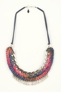 """Crochet """"Sinu"""" Necklace. $85.00, via Etsy."""