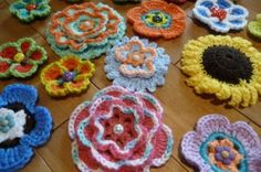 "Crochet Flower Power~    At the www.rural-living.com farm we are working on an afghan for a very special person. This young lady saved John's life last September by doing CPR for 12 full minutes.     I needed a good crocheted flower pattern. This will work well for the final embellishments.     Plan to present it to her on the anniversary of his ""event."" We'll post full details when we do."