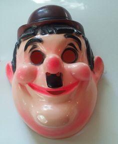 Vintage Oliver Hardy Halloween Mask