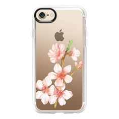 Sakura Watercolour - iPhone 7 Case And Cover (350 SEK) ❤ liked on Polyvore featuring accessories, tech accessories, iphone case, clear iphone case, iphone cases, iphone cover case and apple iphone case