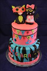 Beanie Boo and Monster High Cake - Jeni Cakes Nut Free